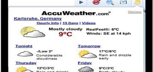 AccuWeather Forecast, extensión Chrome para conocer la previsión meteorológica