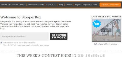 BlooperBox,  plataforma de vídeos de humor con premio semanal para el más votado