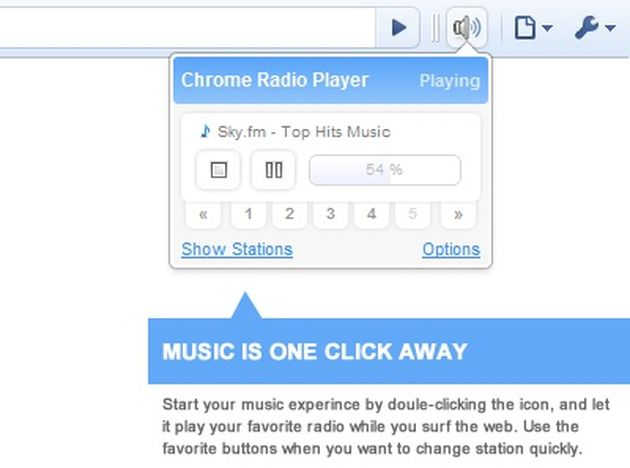 Chrome Radio Player Chrome Radio Player, escucha radios de todo el mundo mientras navegas