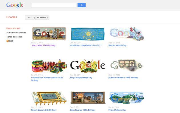 Todos los Doodles de Google, locales y globales, desde 1998 a la actualidad