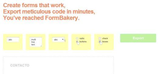 FormBakery: crea gratis complejos formularios para tu web, con solo arrastrar y soltar