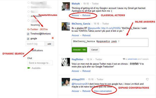 G+Twitter, convierte Google+ en un cliente Twitter con esta extensión para Chrome