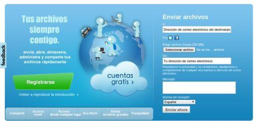 GoAruna, 2 Gb gratuitos para compartir archivos de hasta 250 Mb
