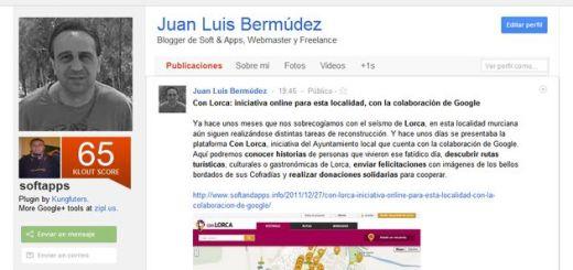 KloutPlus, descubre la valoración en Klout de los usuarios de Google+ (Chrome)
