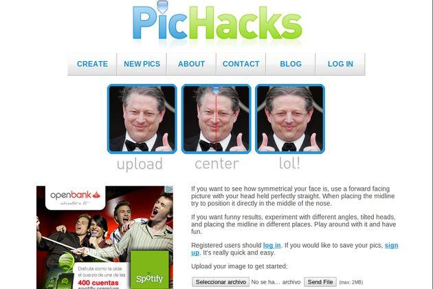 PicHacks, deforma rostros para crear imágenes divertidas