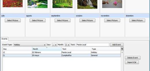 Pically, software gratuito para crear tus calendarios personalizados del 2012