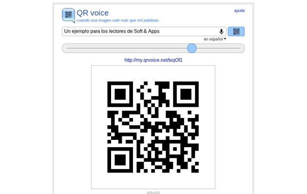 QR voice, comparte mensajes de voz por medio de códigos QR