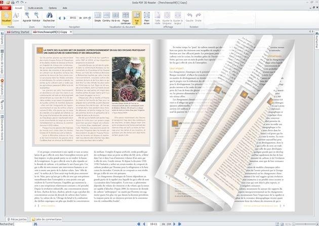 Soda 3D PDF Reader, lee documentos PDF como si fuesen libros