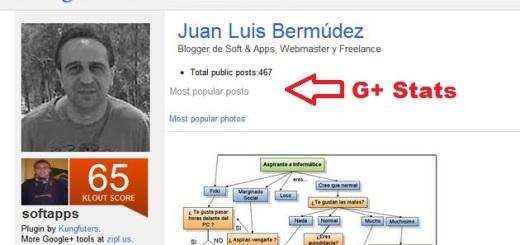 G+ Stats, descubre los posts y fotos más populares de cualquier usuario de Google+ (Chrome)