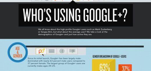 Infografía del uso de Google+
