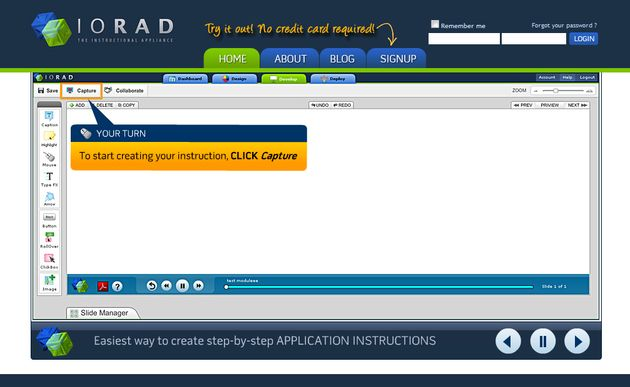 Iorad, utilidad web para crear manuales interactivos del uso de aplicaciones