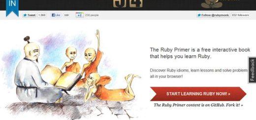 RubyMonk, curso interactivo gratuito para aprender a programar en Ruby