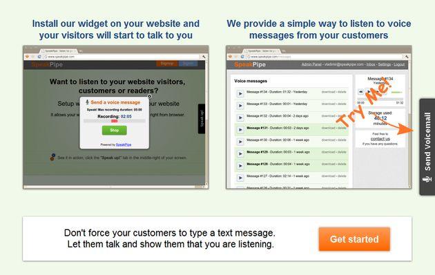 SpeakPipe, un widget que permite a los visitantes de tu blog dejarte un mensaje de voz