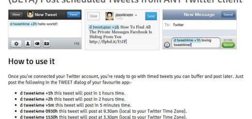 Tweet4me, programa el envío de tweets desde tu cliente Twitter preferido