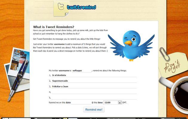TwittRemind, utiliza Twitter para enviarte recordatorios de tus tareas pendientes