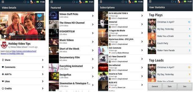 Vimeo ya dispone de aplicaciones para Android y Windows Phone