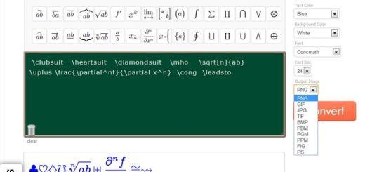 iTex2Image: convierte ecuaciones, fórmulas matemáticas, símbolos o textos a imagen