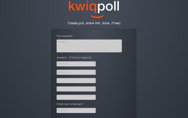Kwiqpoll, crea encuestas en apenas unos segundos