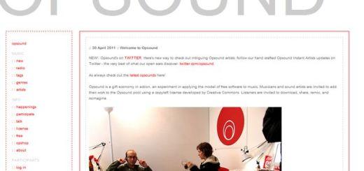 Opsound: mucha música copyleft para escuchar, descargar o usar en tus proyectos