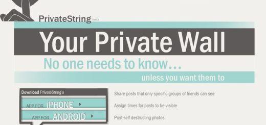 PrivateString, publica mensajes en Facebook que se autodestruyen pasado un tiempo