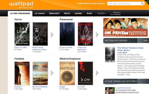 Wattpad, una red social en español para escribir y compartir tus obras