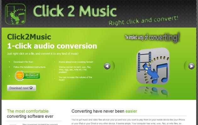 Click2Music, convierte entre formatos de audio con unos clics