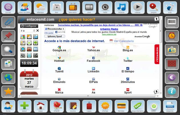 Enlacesmil: completa página de inicio con todos los sitios, servicios y aplicaciones que necesitas