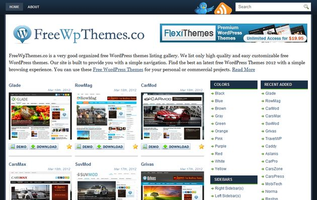FreeWpThemes, gran directorio de temas gratis para WordPress - Soft ...