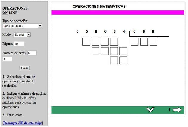 Generador de ejercicios matemáticos para resolver online - Soft & Apps
