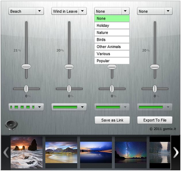 Go Mix It!, crea pases de diapositivas para tus momentos de relajación