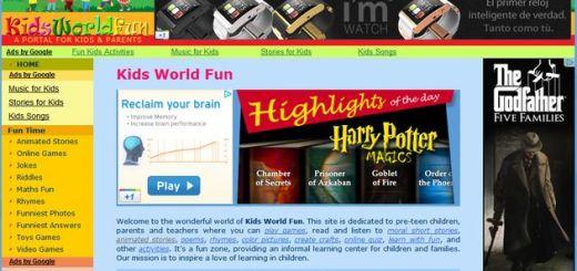 Kids World Fun, un portal con recursos educativos y juegos para niños