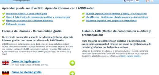 LANGMaster, cursos online para aprender múltiples idiomas