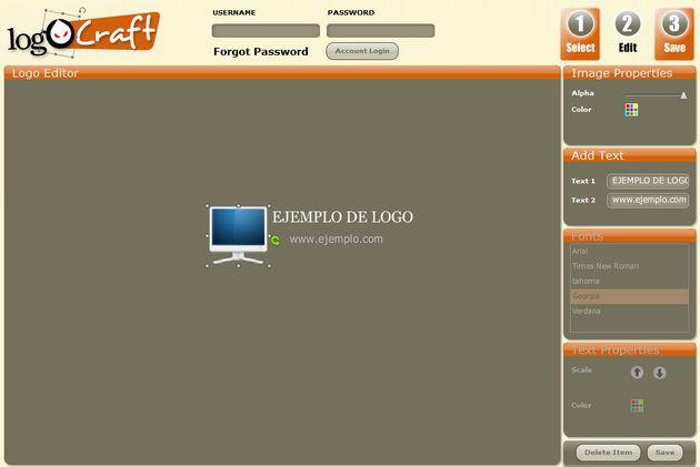 Logocraft un generador de sencillos logotipos gratuito y for Generador de logos