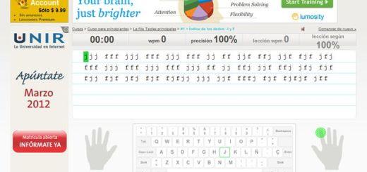 Online Typing Tutor, aprende mecanografía y mejora tu velocidad al teclado