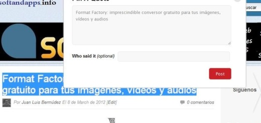Pin A Quote, bookmarklet para convertir texto a imagen y compartirla en Pinterest
