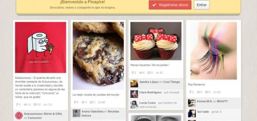 Pinspire, un clon de Pinterest en español