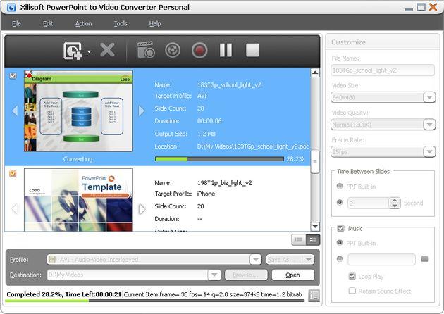 Aplicación Windows gratuita para convertir presentaciones PowerPoint a vídeo