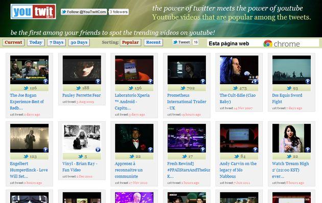 You-Twit, descubre los vídeos de YouTube más populares en Twitter