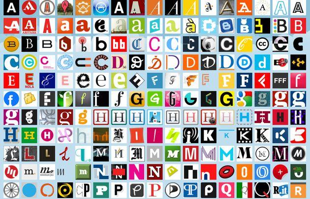 Un curioso alfabeto formado con avatares de usuarios de Twitter