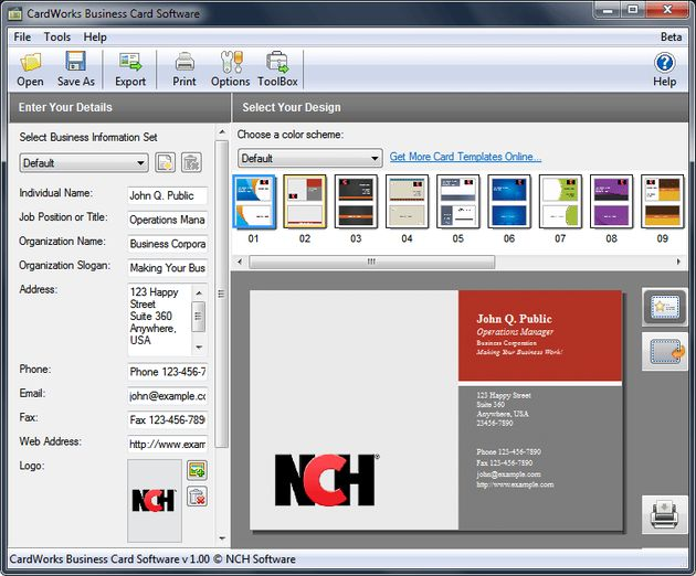 CardWorks Free Business Card Software