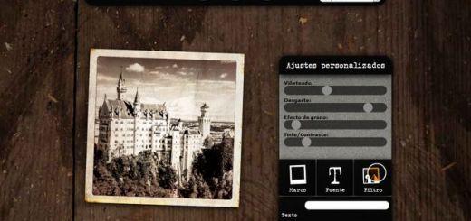 Cheapstamatic, aplicación web gratuita para aplicar un bello efecto vintage a tus fotos