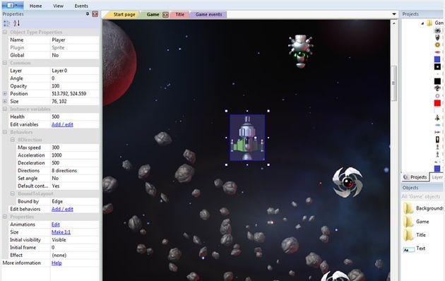 Construct 2, software gratuito para que cualquiera pueda crear juegos en HTML5