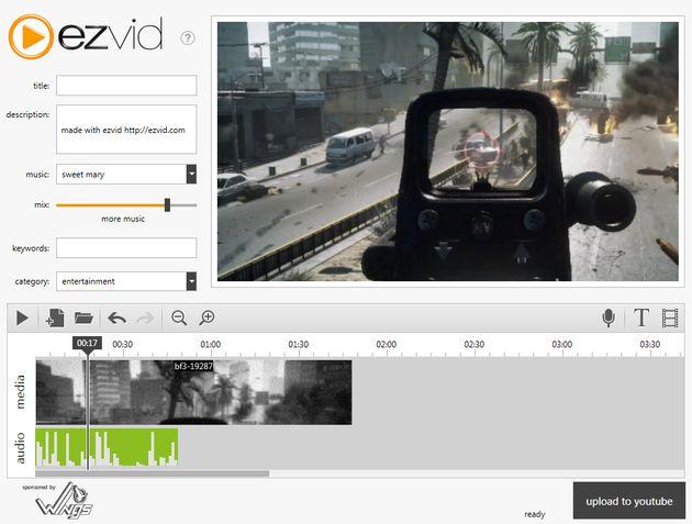 Ezvid, crea vídeos fácilmente con tus archivos multimedia y subelos a YouTube