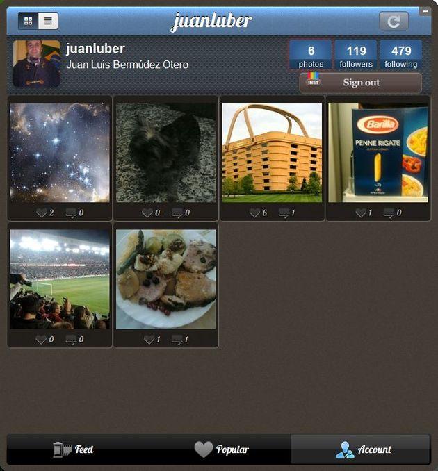 Instagrille, un cliente de Instagram para tu Escritorio de Windows