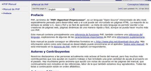 Manual oficial, en español, para aprender a programar en PHP