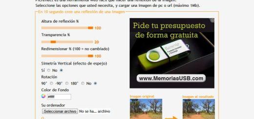 Picreflect, aplicación online gratis para crear un efecto reflejo en nuestras imágenes