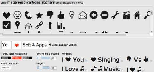 Pictotool, crea divertidas imágenes con pictogramas y texto