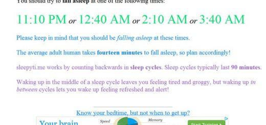 Sleepyti, calculadora online que te indica las horas adecuadas para un sueño reparador
