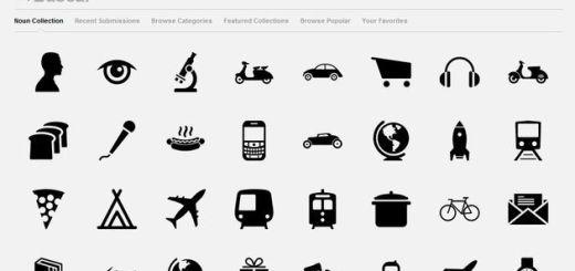 The Noun Project, cientos de bellos gráficos libres en color negro