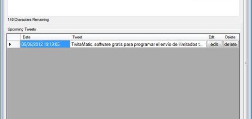 TwitaMatic, software gratis para programar el envío de ilimitados tweets